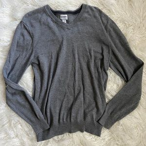 Old navy Men's gray v neck sweater M